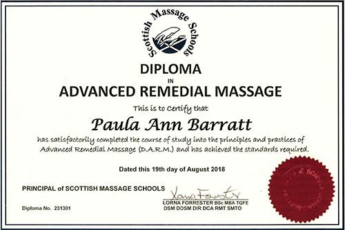Advanced Remedial Massage Certificate