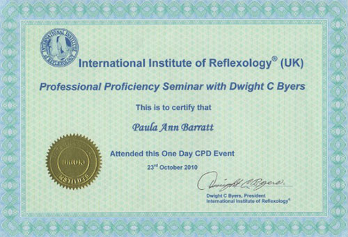 Professional Proficiency Certificate Dwight Byers October 2010