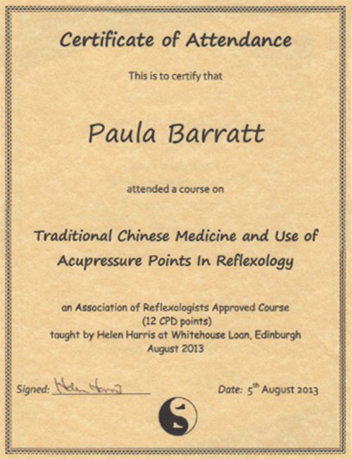 Traditional Chinese Medicne Accupresure points August 2013