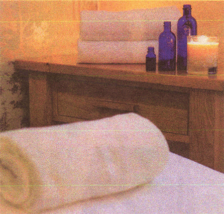 Spa room with towels