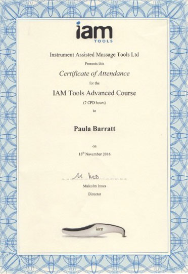 Instrument Assisted Tools Massage advanced Certificate